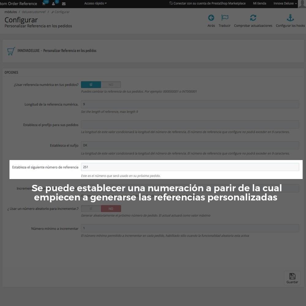 module - Contabilidad y Facturas - Personalización de la referencia de los pedidos - 7