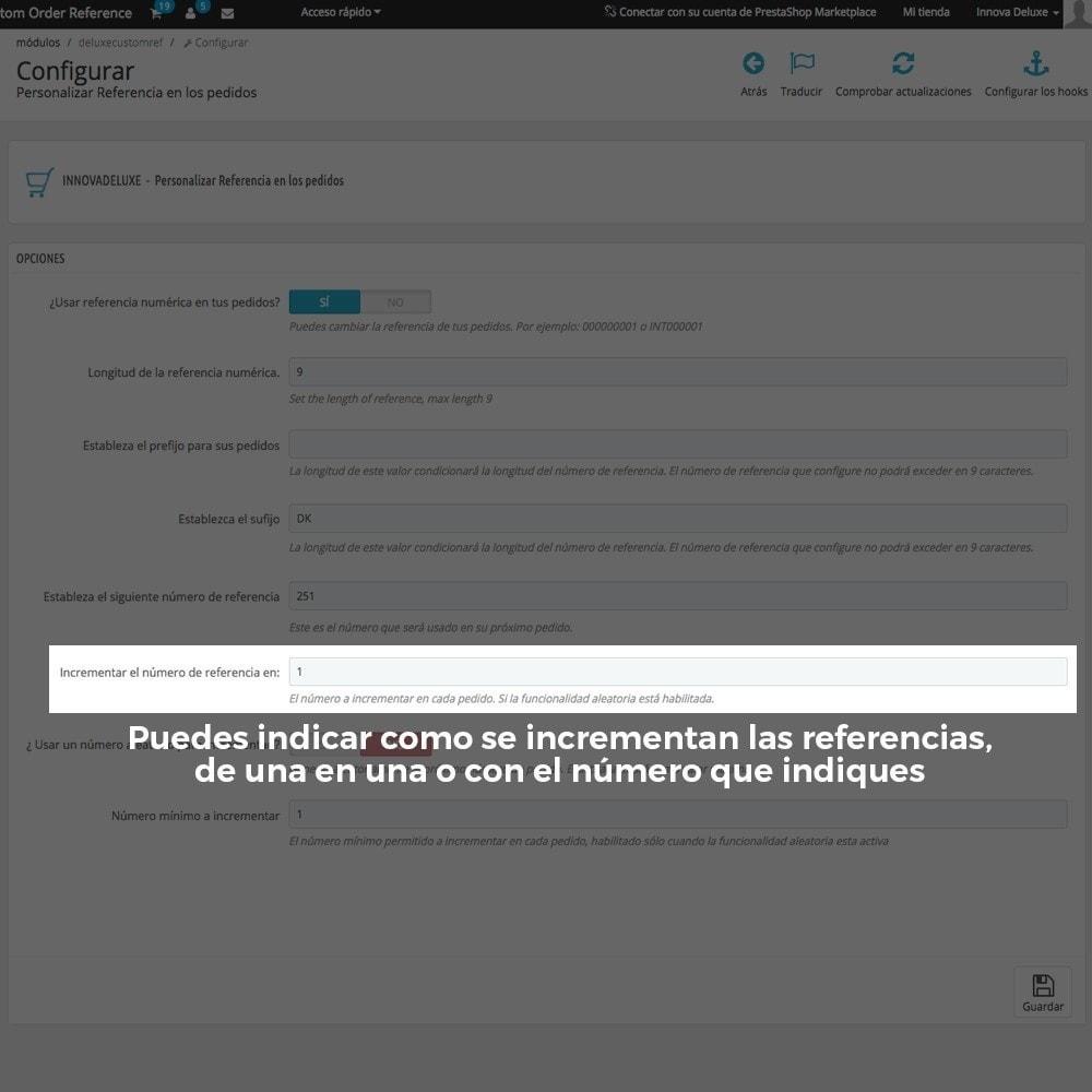 module - Contabilidad y Facturas - Personalización de la referencia de los pedidos - 8