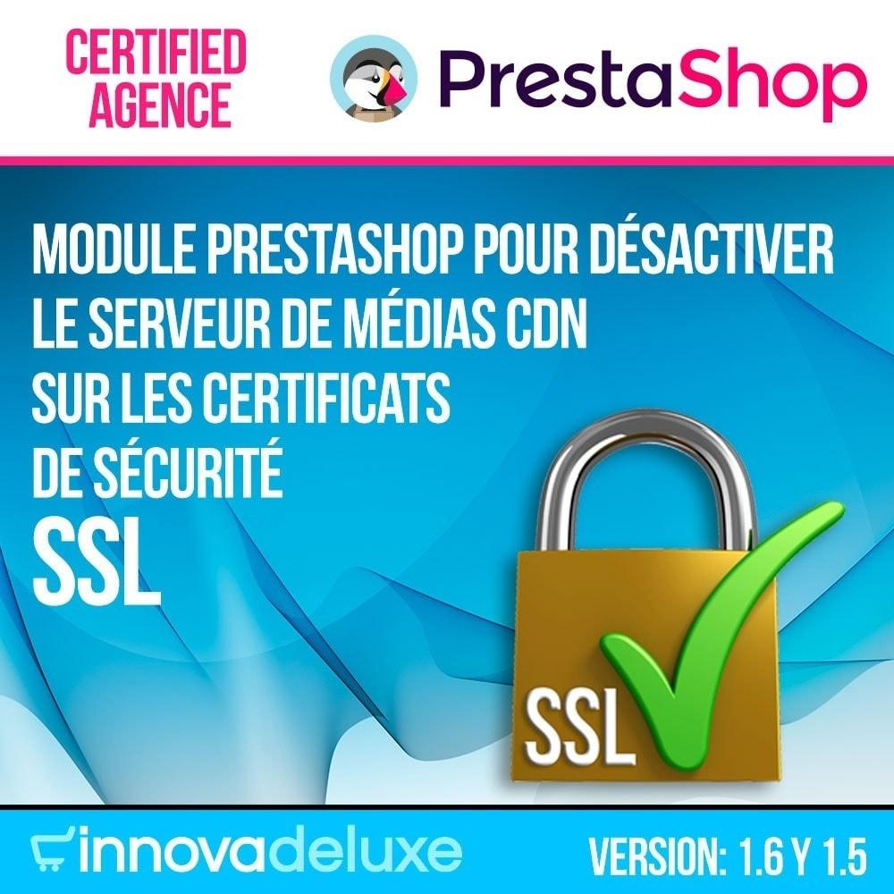 module - Sécurité & Accès - Désactivation de serveurs de médias CDN sur SSL - 1