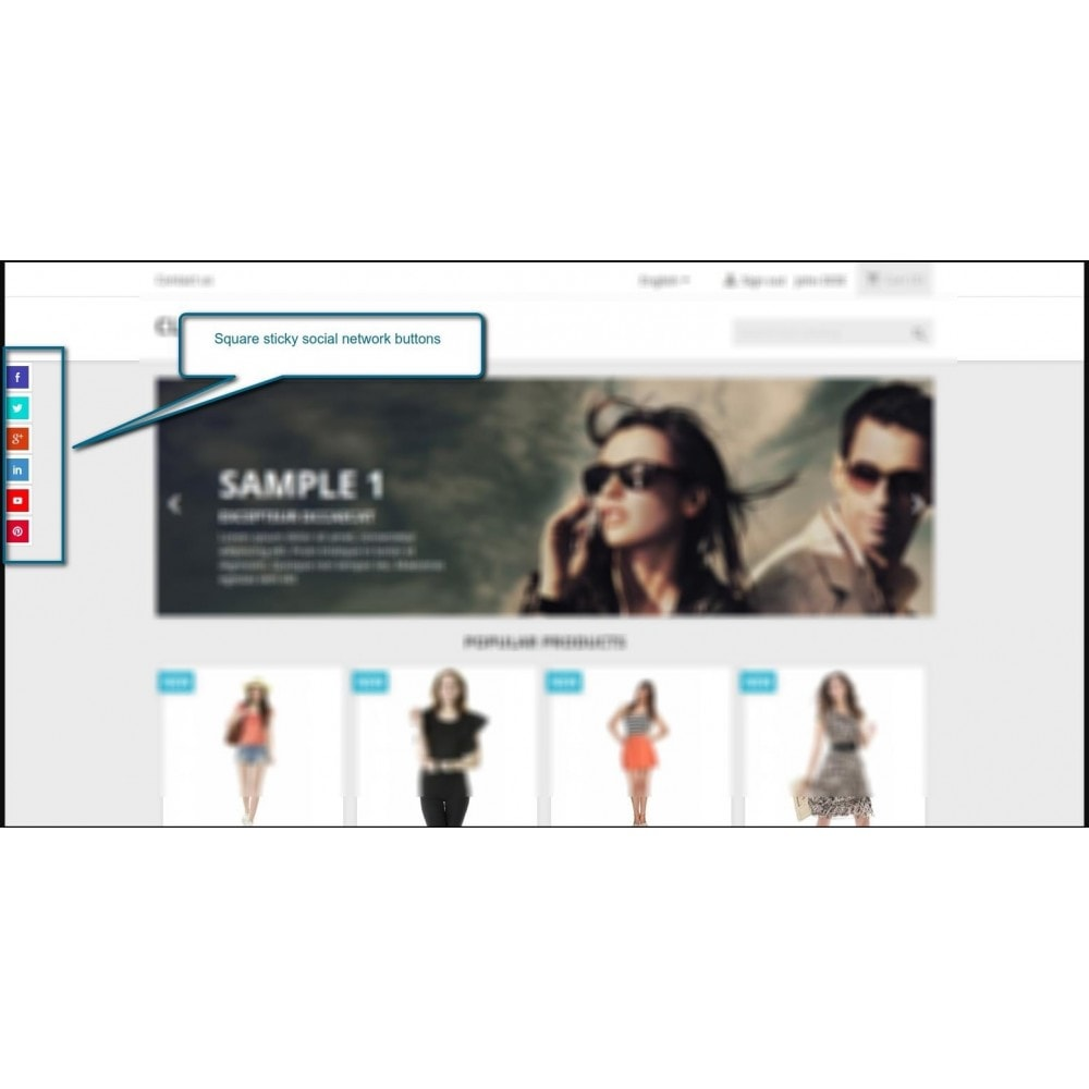 module - Кнопки 'Рассказать друзьям' и комментариев - Stick Social Networks - 3