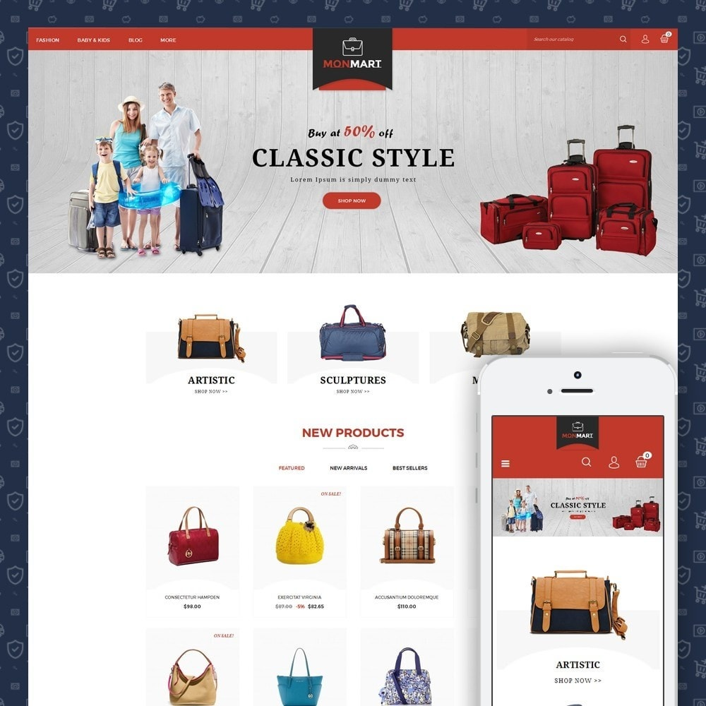 theme - Fashion & Shoes - MonMart Bag Store - 1