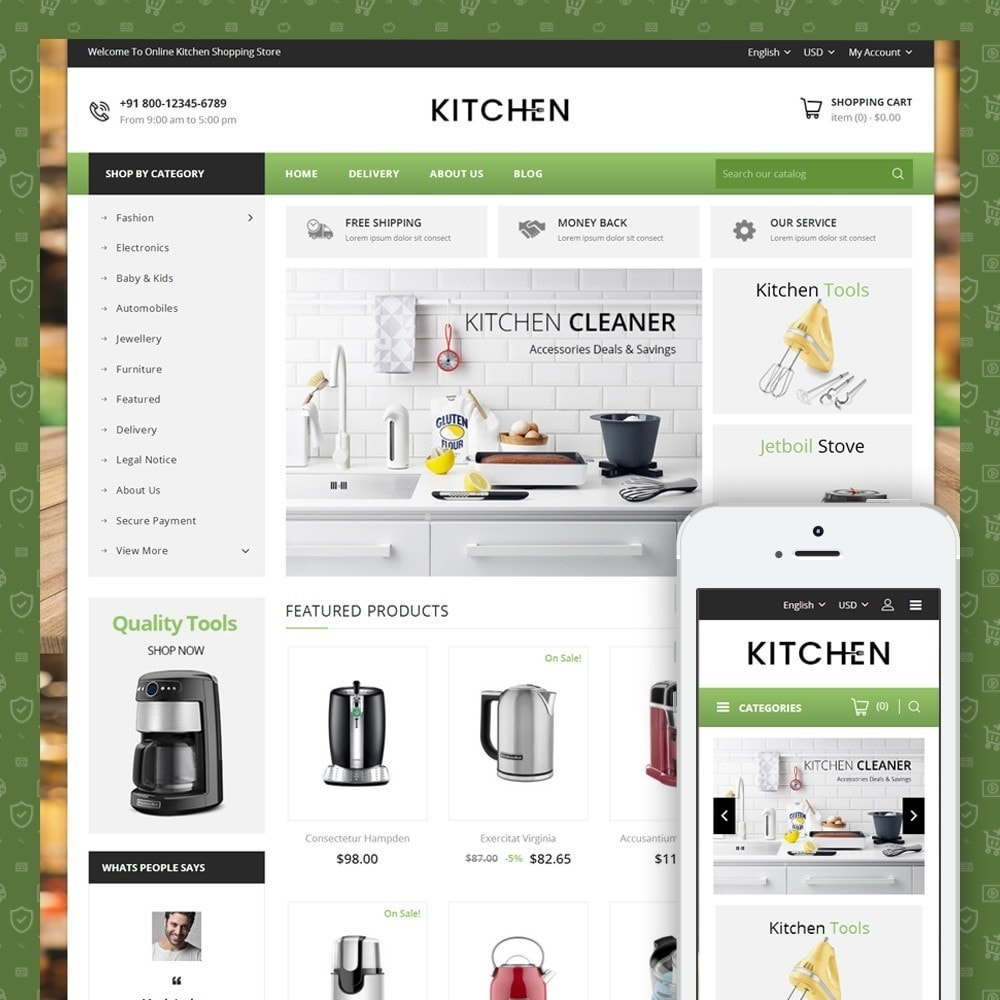 theme - Дом и сад - Online Kitchen Store - 1