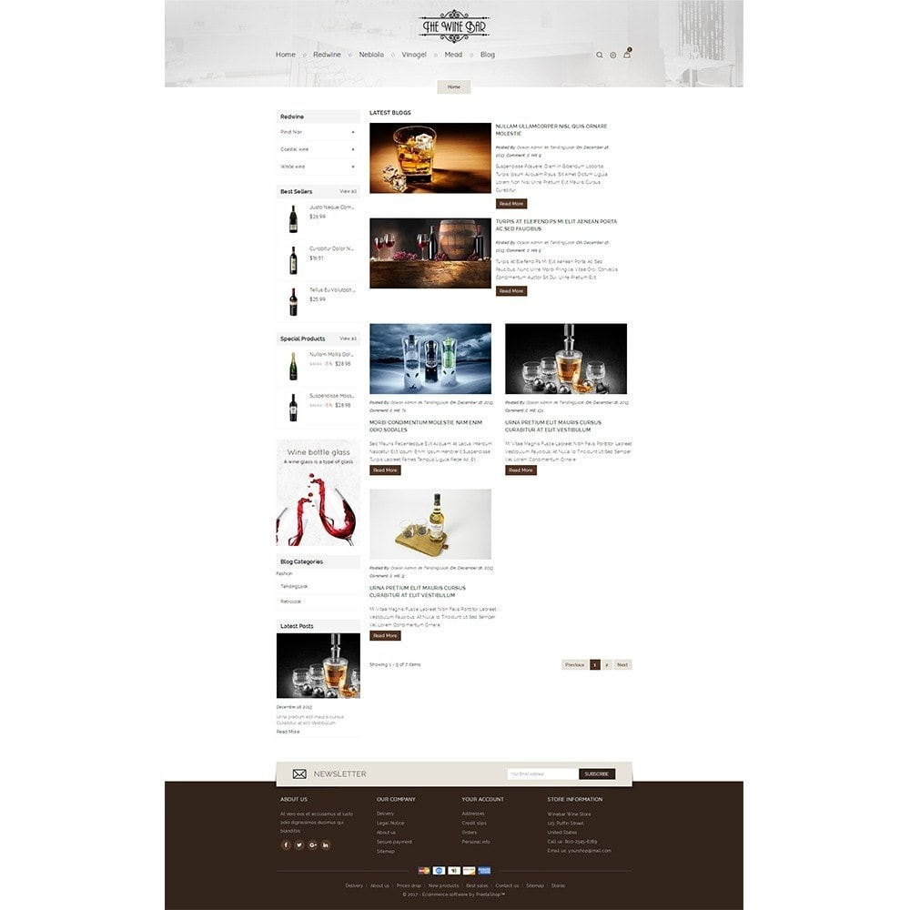 theme - Drink & Wine - Winebar WIne Store - 5