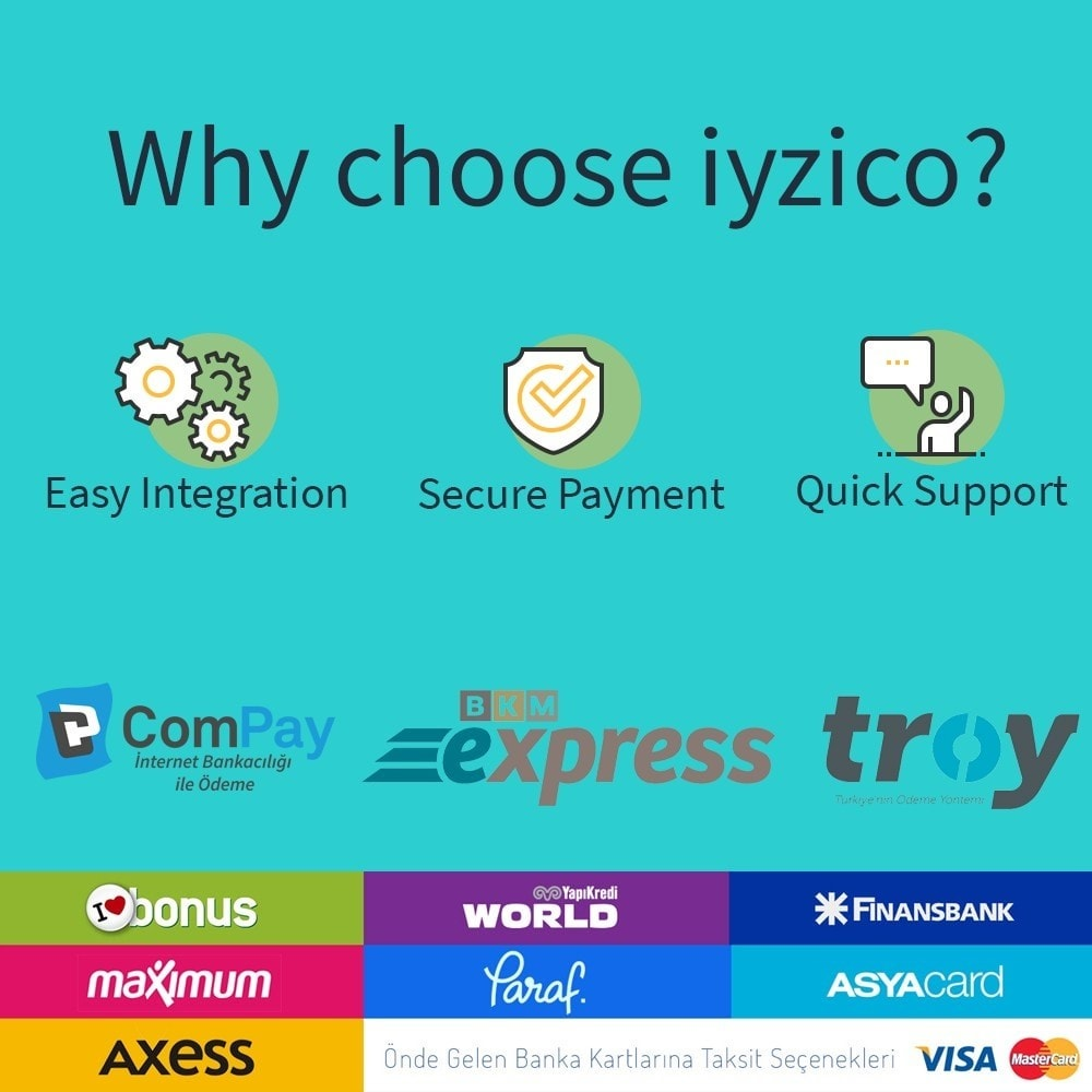 module - Creditcardbetaling of Walletbetaling - Iyzico Easy Payment - 2