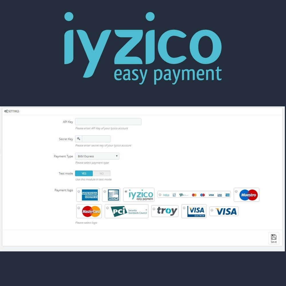 module - Payment by Card or Wallet - Iyzico Easy Payment Sanal POS for Turkey - 6