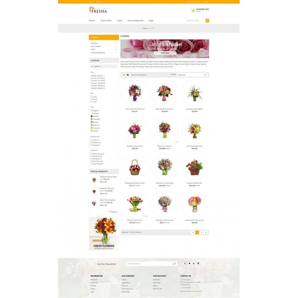 theme - Gifts, Flowers & Celebrations - Fressia - Flower Store - 3