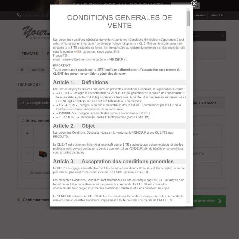 pack - De aanbiedingen van dit moment: bespaar geld! - Loi Européenne - CGV + Bandeau d'Informations Cookies - France (Pack) - 11