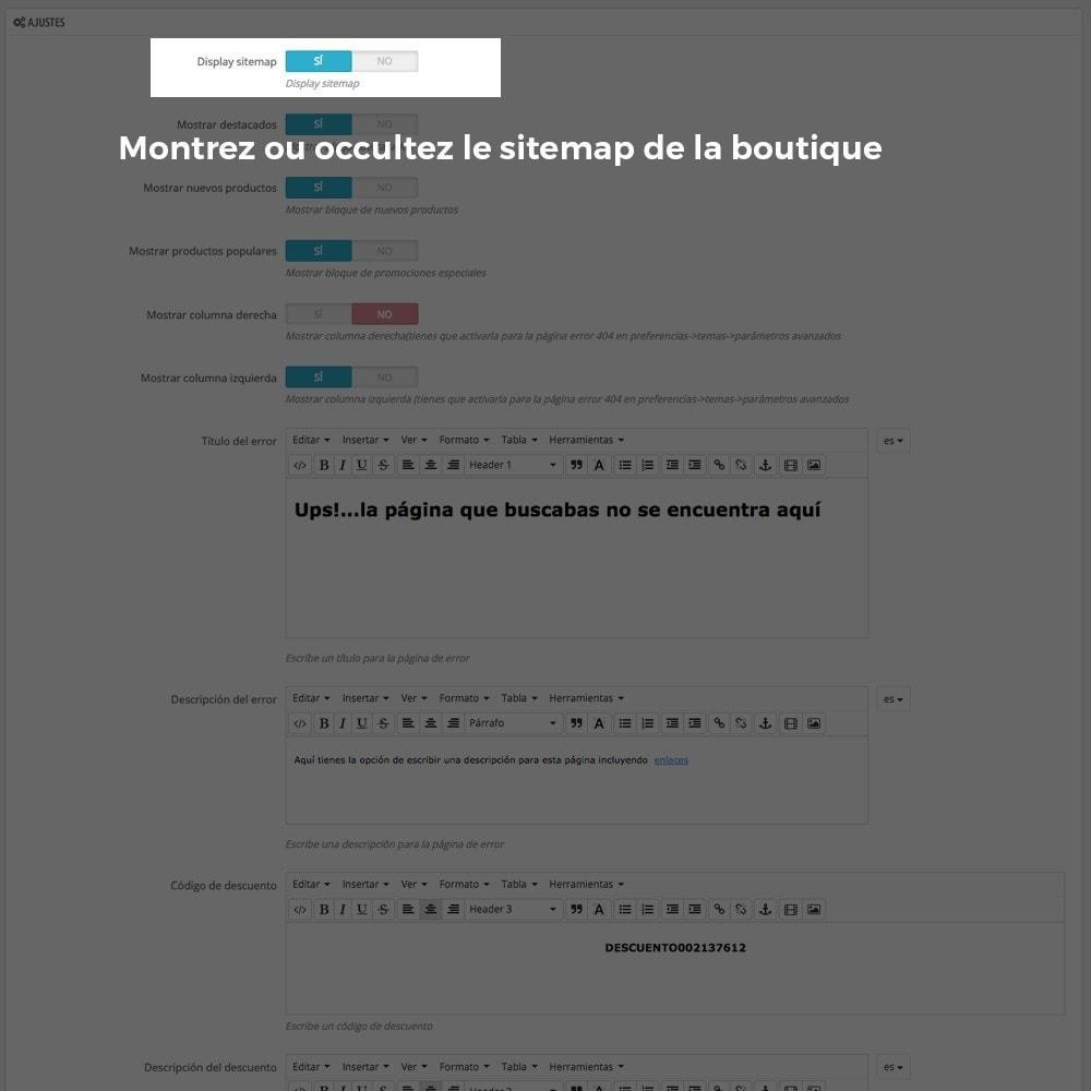 module - URL & Redirections - Personnalisation de la page d'erreur 404 - 3