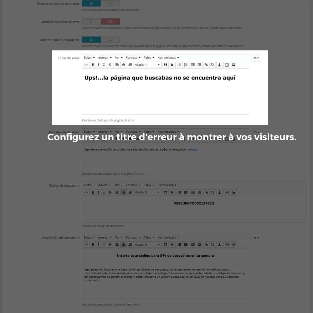 module - URL & Redirections - Personnalisation de la page d'erreur 404 - 16