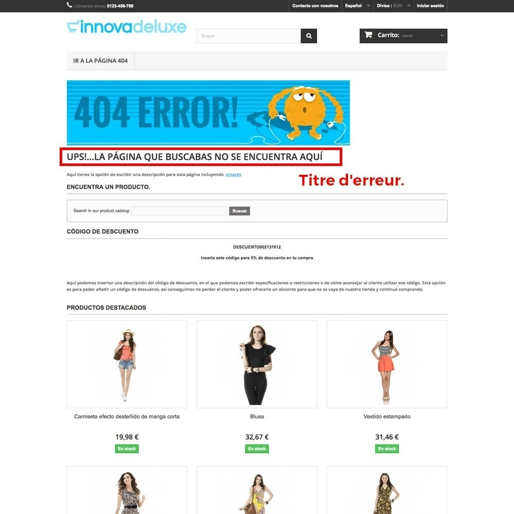 module - URL & Redirections - Personnalisation de la page d'erreur 404 - 17