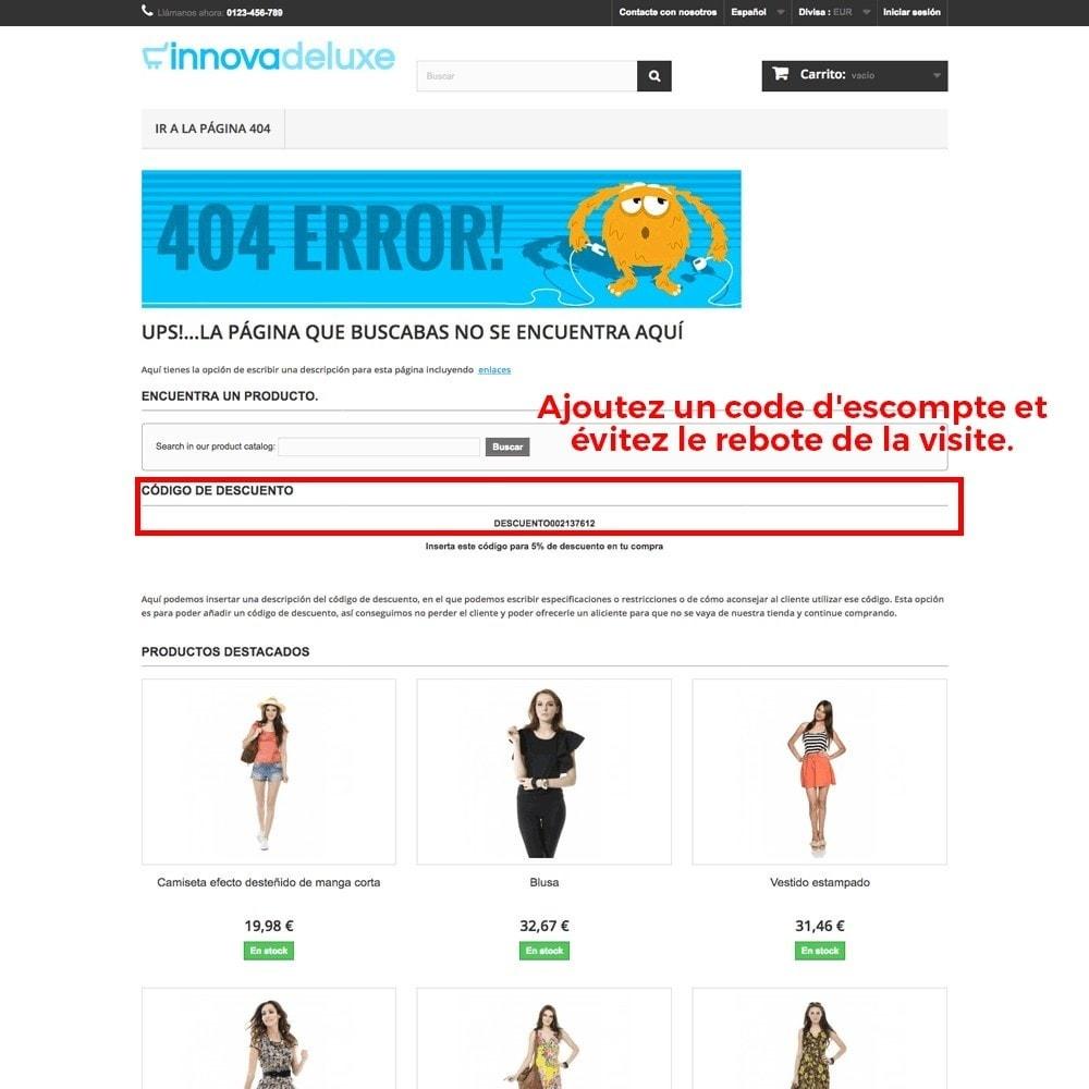 module - URL & Redirections - Personnalisation de la page d'erreur 404 - 21