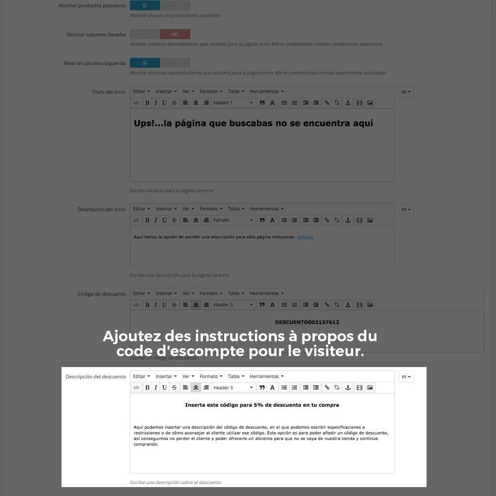 module - URL & Redirections - Personnalisation de la page d'erreur 404 - 22