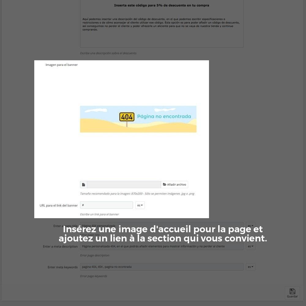 module - URL & Redirections - Personnalisation de la page d'erreur 404 - 24