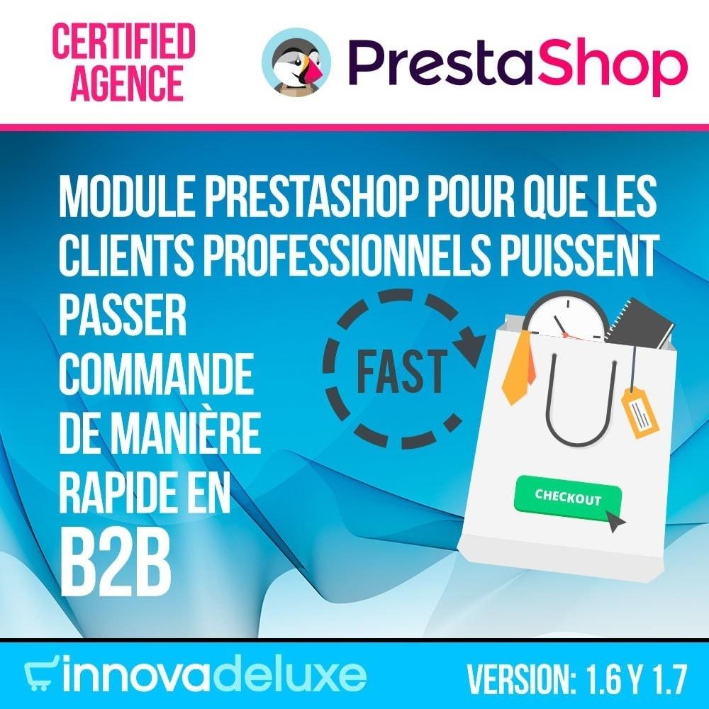 module - B2B - Créateur de commandes rapides (clients professionnels) - 1