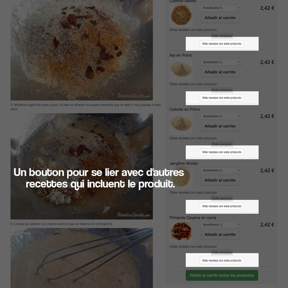 module - Blog, Forum & Actualités - Gestionnaire de recettes avec des produits magasin - 15