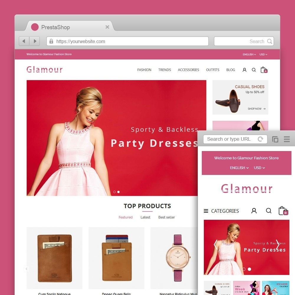 theme - Mode & Schoenen - Glamour Fashion Store - 1