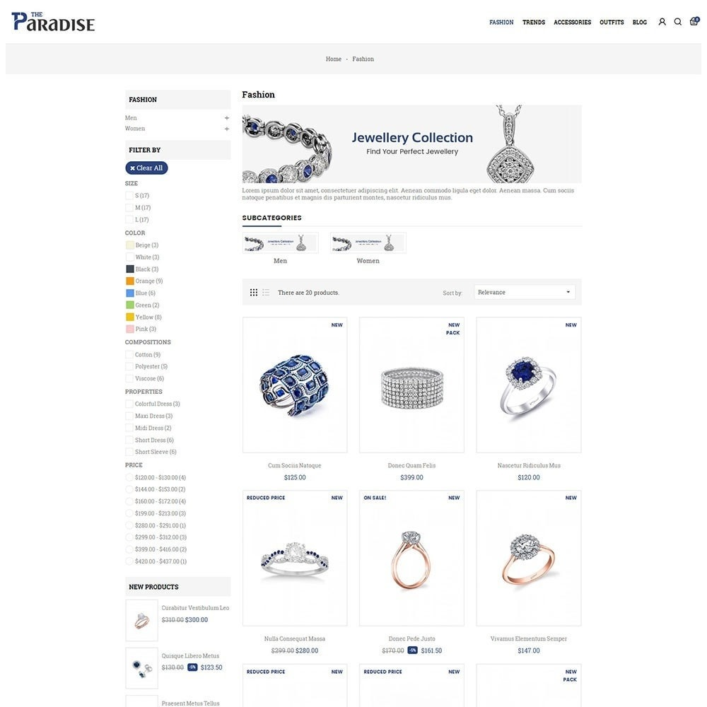 theme - Jewelry & Accessories - Paradise Jewellery Store - 3