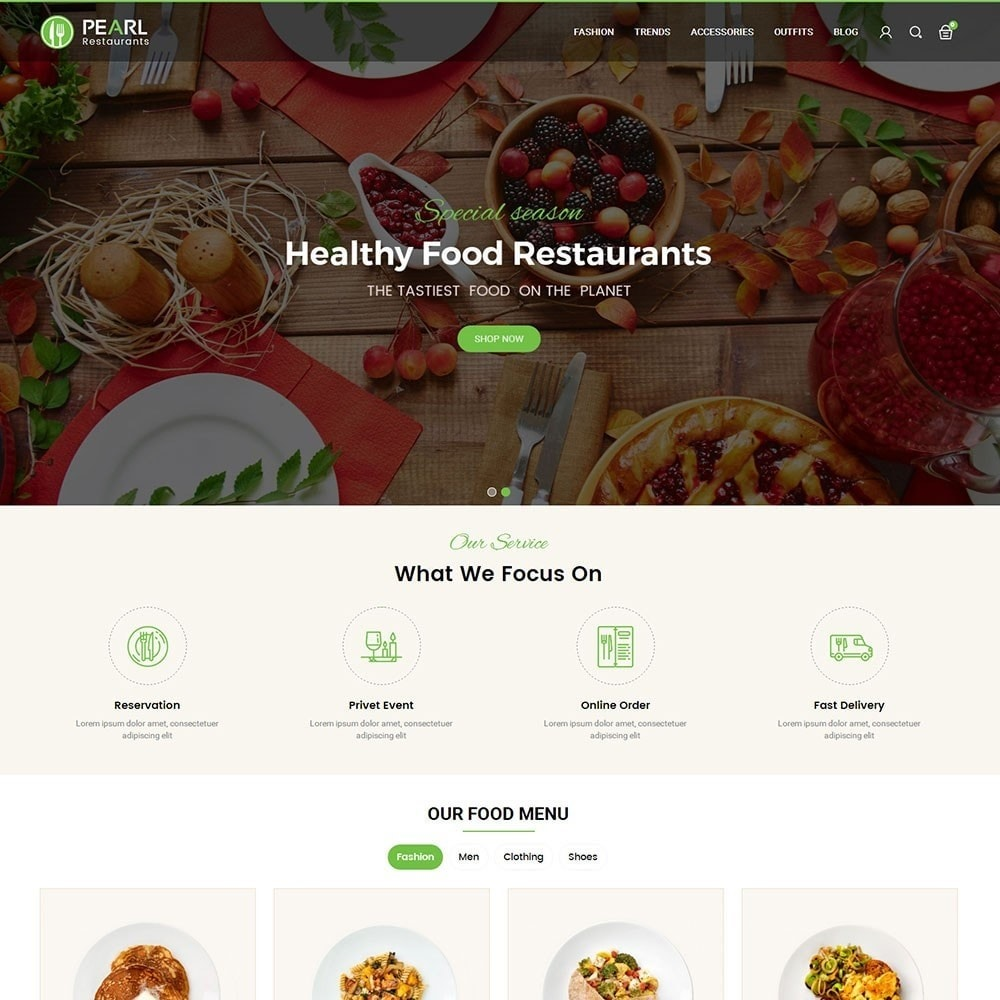 theme - Food & Restaurant - Pearl Food Store - 2