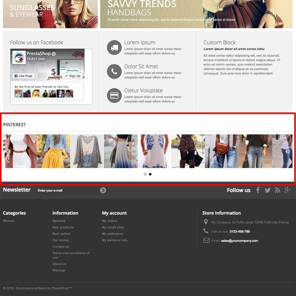 module - Виджеты для социальных сетей - Pinterest Images Feed - 2