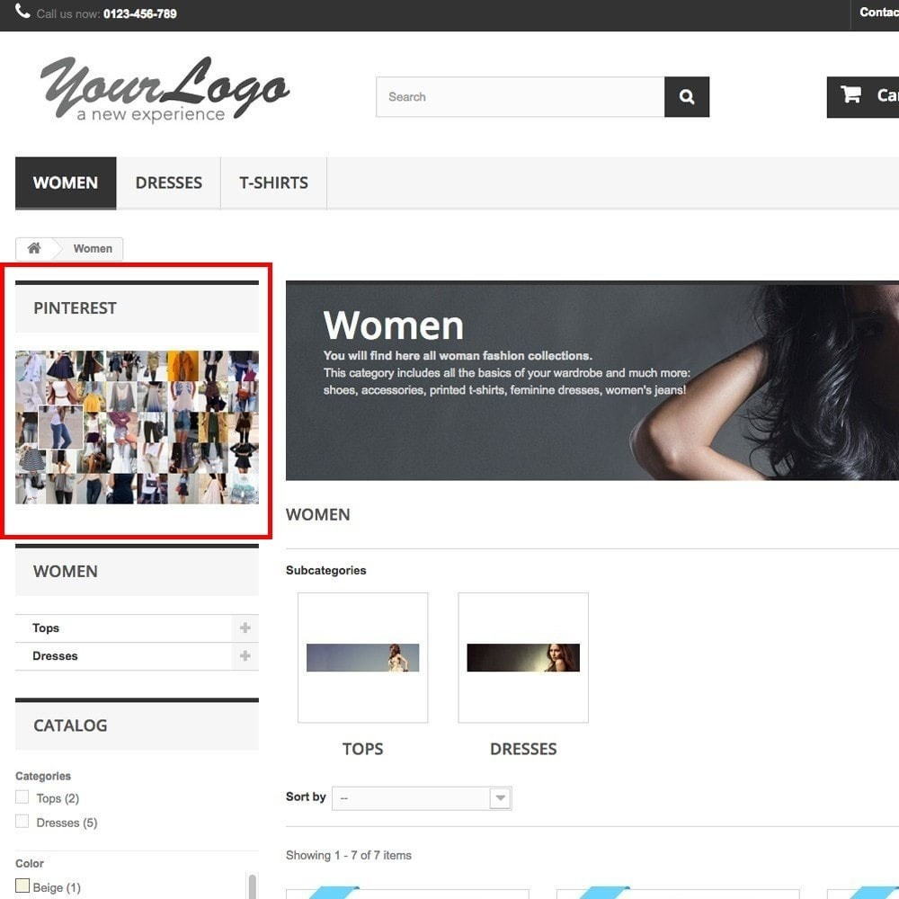 module - Виджеты для социальных сетей - Pinterest Images Feed - 4