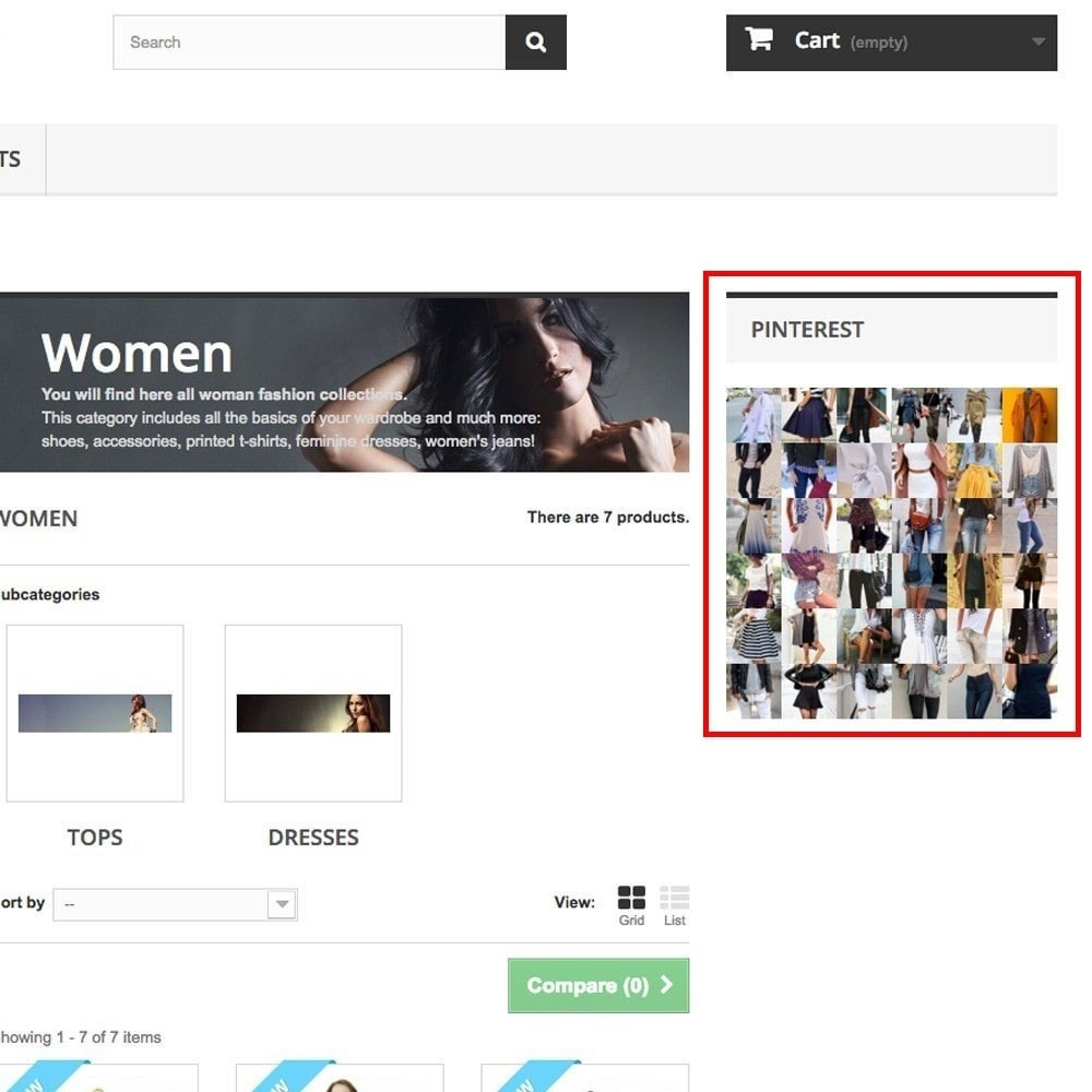 module - Виджеты для социальных сетей - Pinterest Images Feed - 8