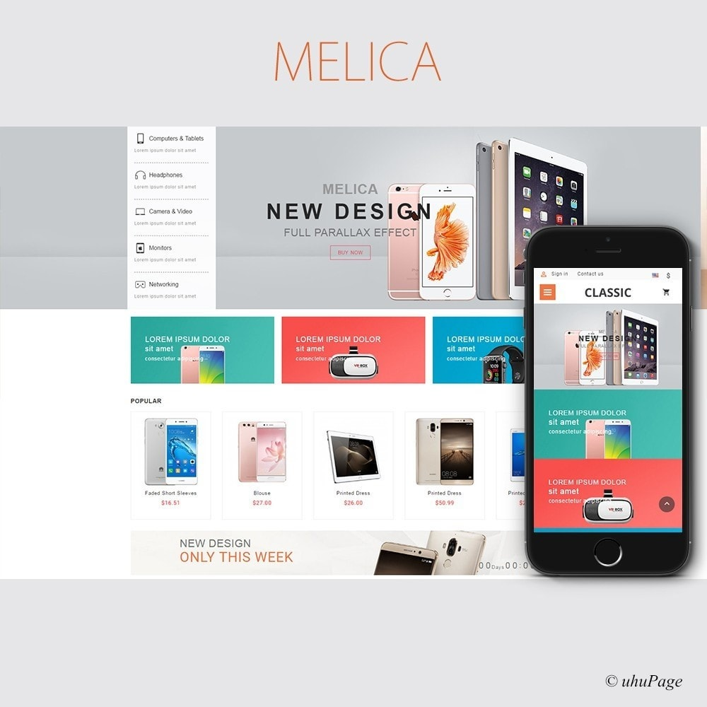 theme - Elettronica & High Tech - UP Melica Mobile Store - 1