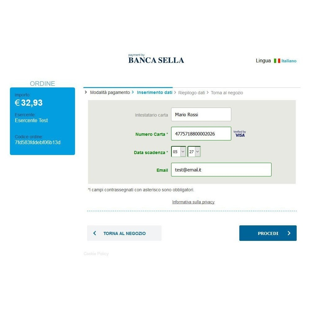 module - Payment by Card or Wallet - GestPay Italian Gateway Payment Banca Sella - 2