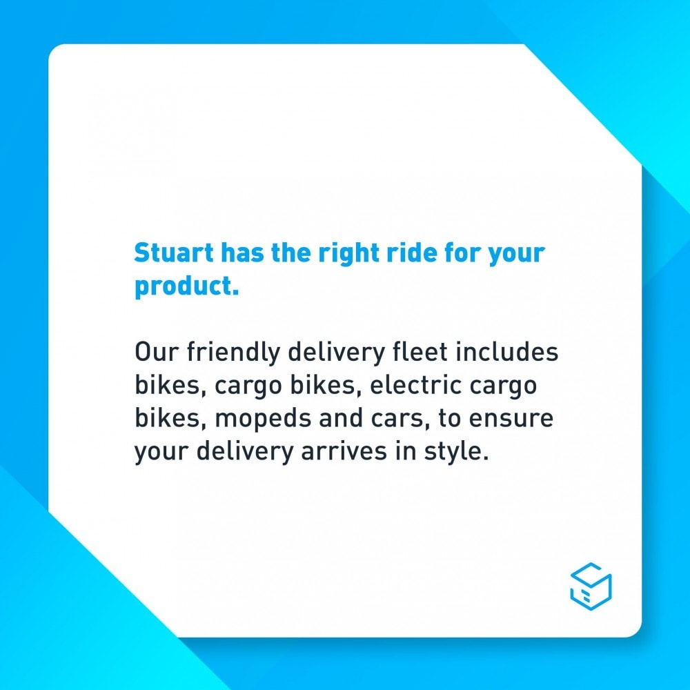 module - Transportadoras - Stuart - Delivery 7/7 by bike - 3