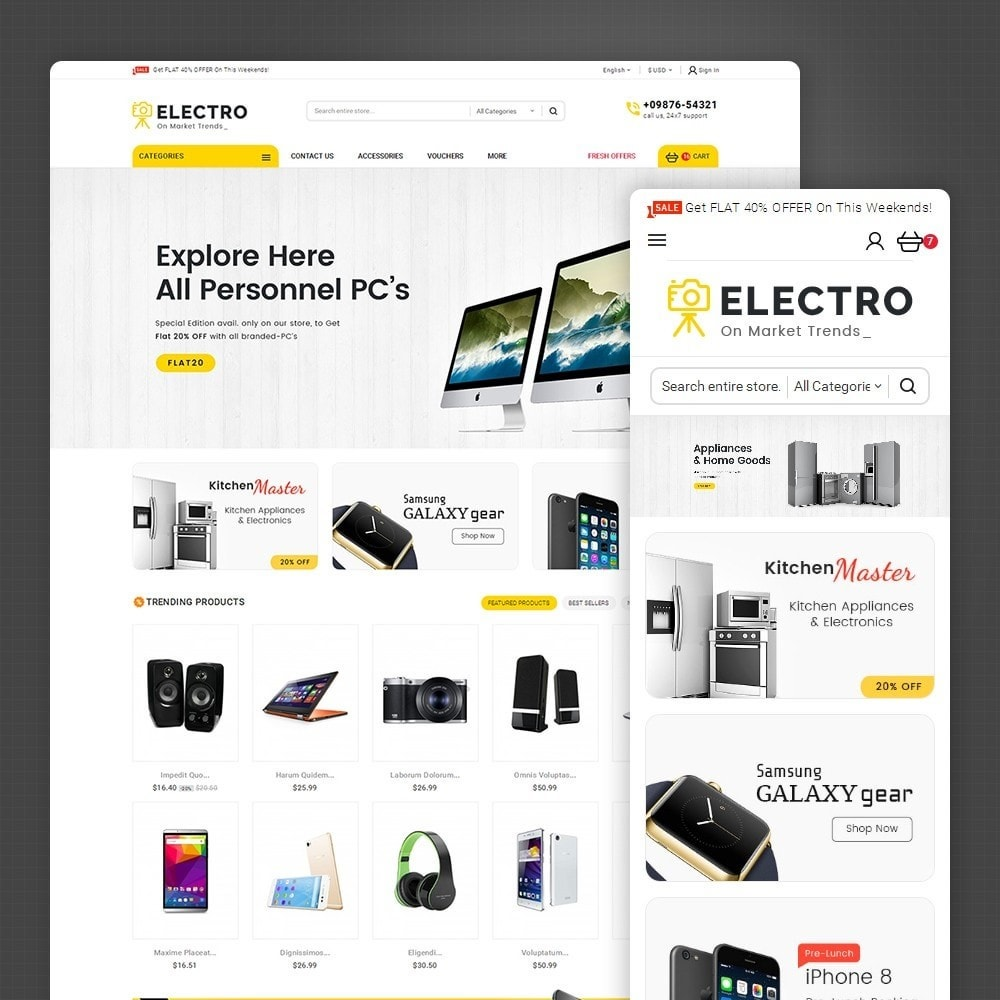 theme - Elettronica & High Tech - Mega Electronics Store - 1