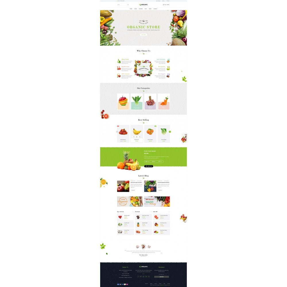theme - Food & Restaurant - JMS Organic II - 8