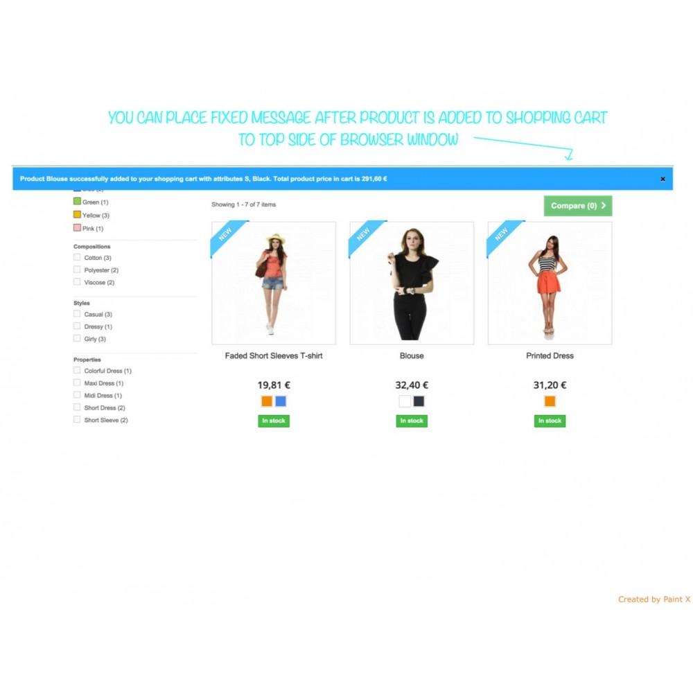 module - Anmeldung und Bestellvorgang - Effekt des Warenflugs, Pop-up zu und andere Animationen - 6