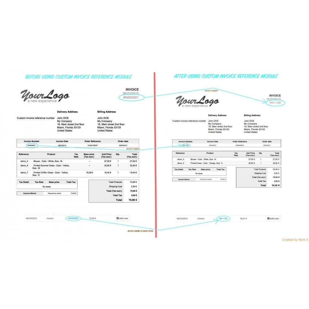 module - Buchhaltung & Rechnung - Modern Faktur Nr. Generieren, editieren und Löschen - 1