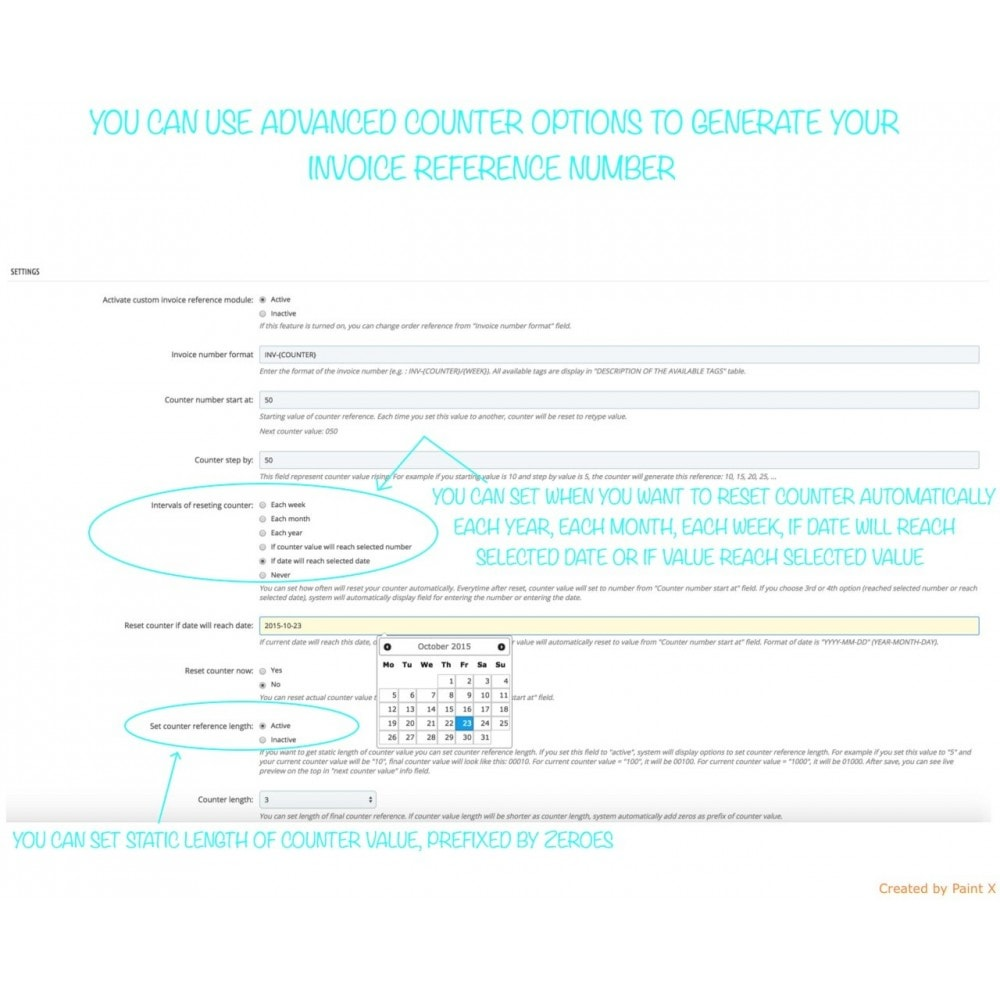 module - Buchhaltung & Rechnung - Modern Faktur Nr. Generieren, editieren und Löschen - 6