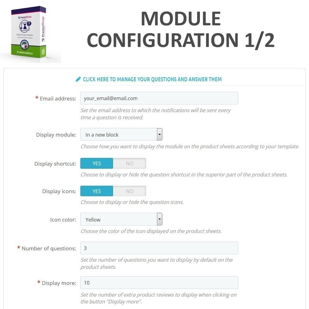 module - FAQ (Domande Frequenti) - FAQ Schede prodotti - Domande frequenti - 2