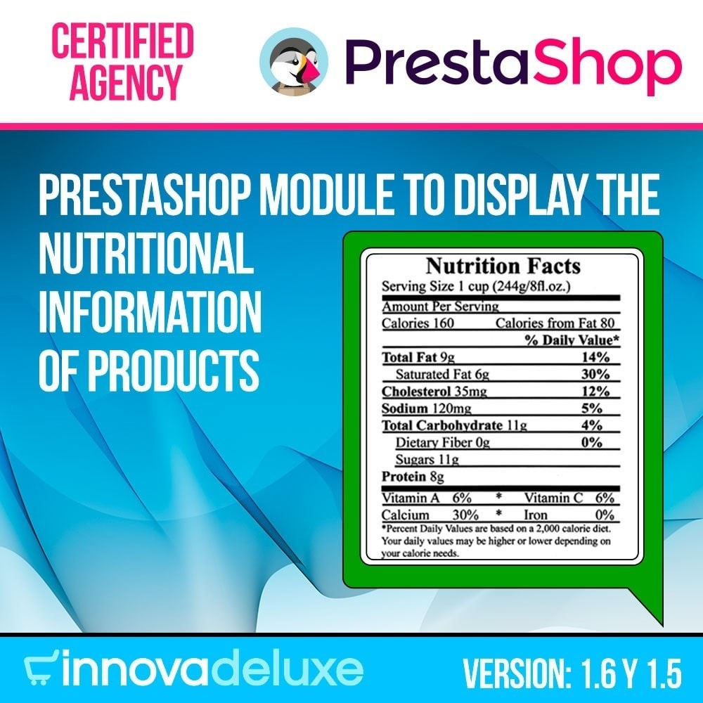module - Bijkomende Informatie - Products nutritional information - 1