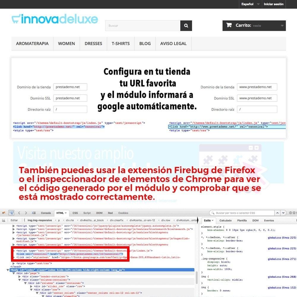 module - URL y Redirecciones - Información de redirección de URL canónica para Google - 5