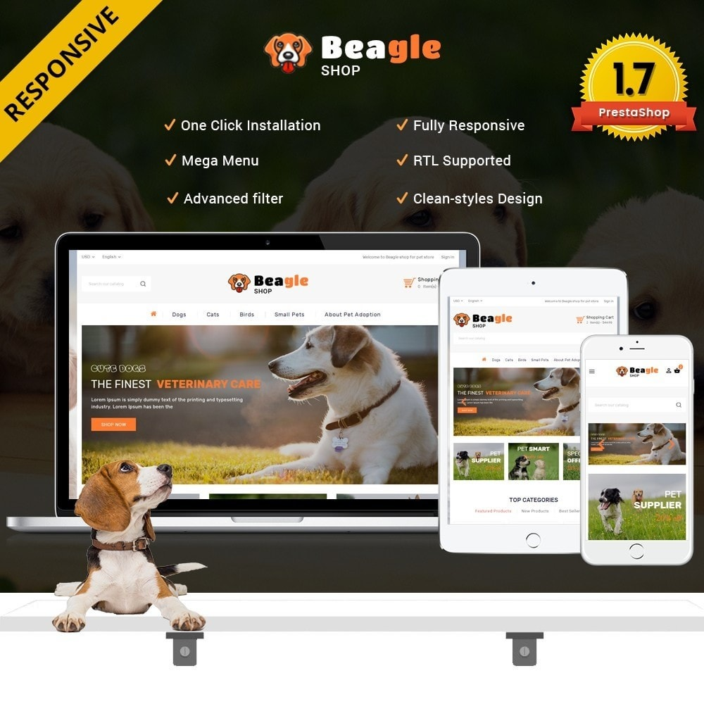 theme - Animaux - Beagle shop - 1