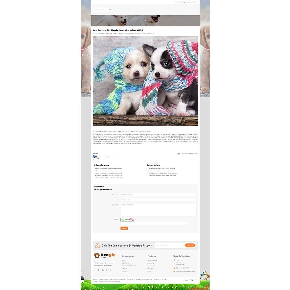 theme - Animaux - Beagle shop - 8