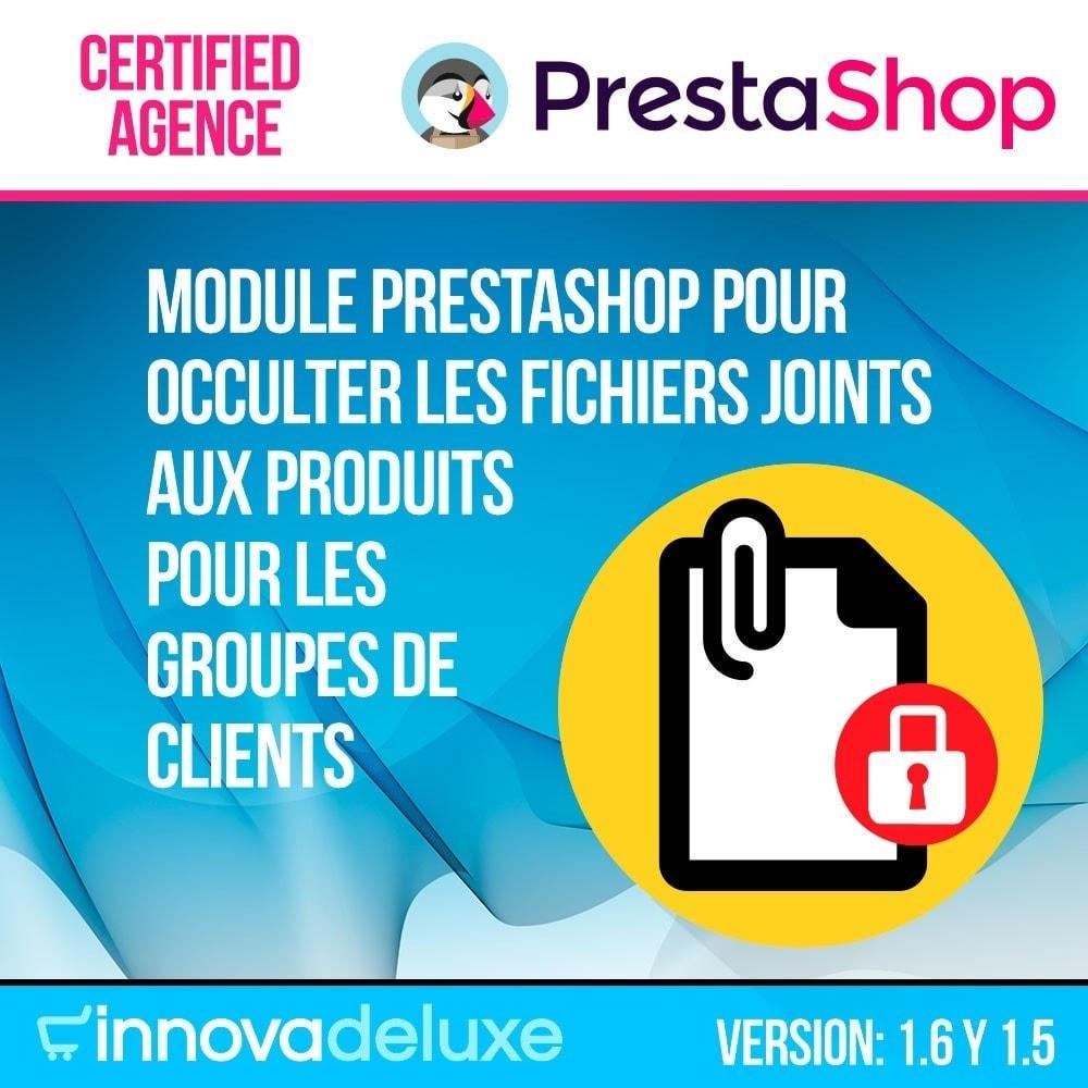 module - Gestion des clients - Pièces jointes Produit par groupe de clients - 1