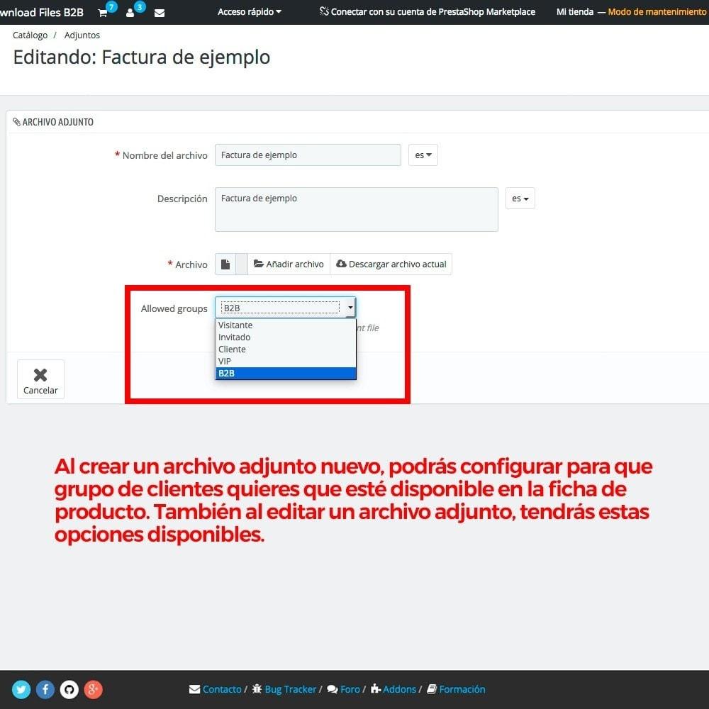 module - Gestión de clientes - Archivos adjuntos de producto por grupos de cliente - 5
