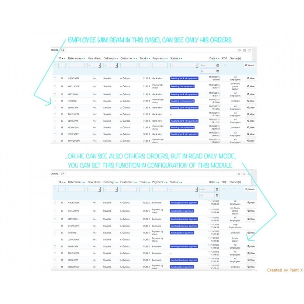 module - Gestione Ordini - Dipendenti come proprietari dei prodotti e degli ordini - 5