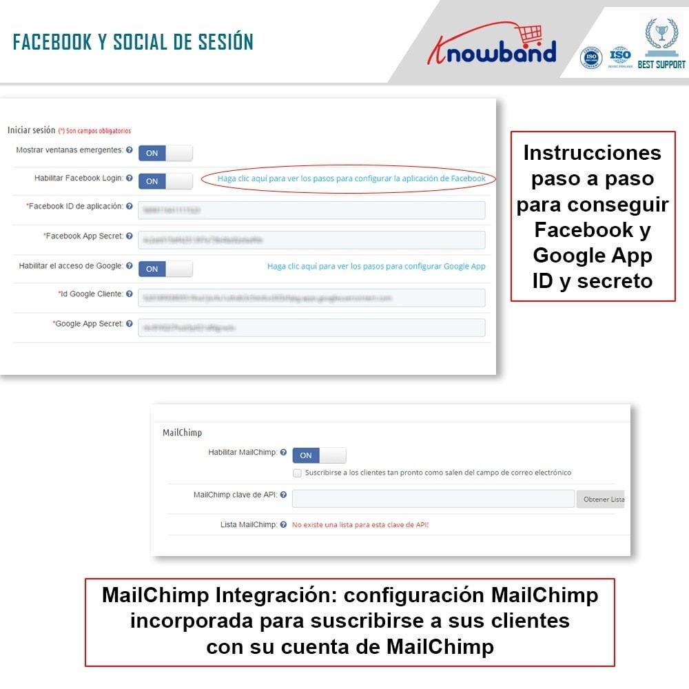 module - Proceso rápido de compra - One Page Checkout, Social Login & Mailchimp - 15