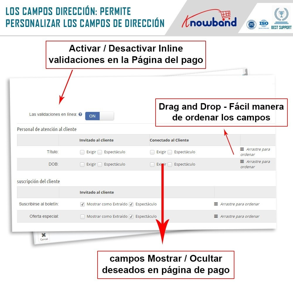 module - Proceso rápido de compra - Knowband - One Page Checkout, Social Login & Mailchimp - 16