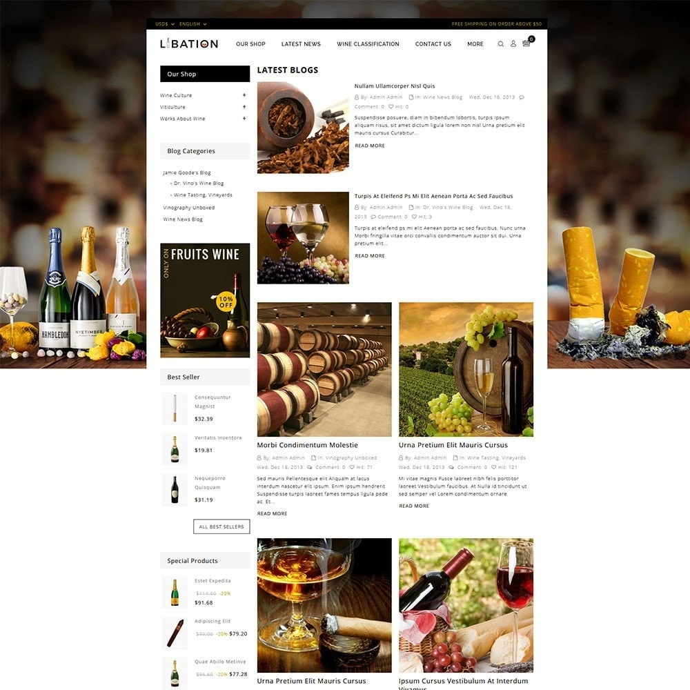 theme - Drink & Tobacco - Libation Wine Store - 6