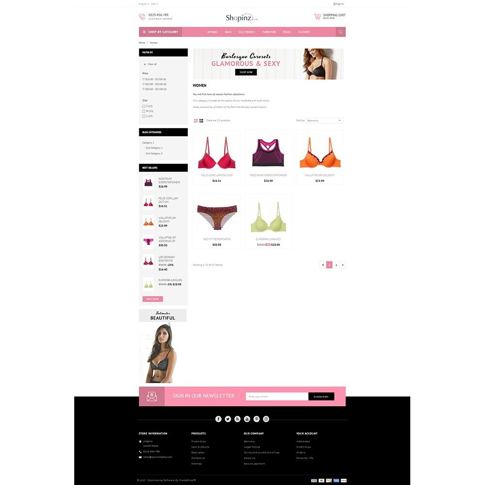 theme - Mode & Chaussures - Lingerie Store - 3