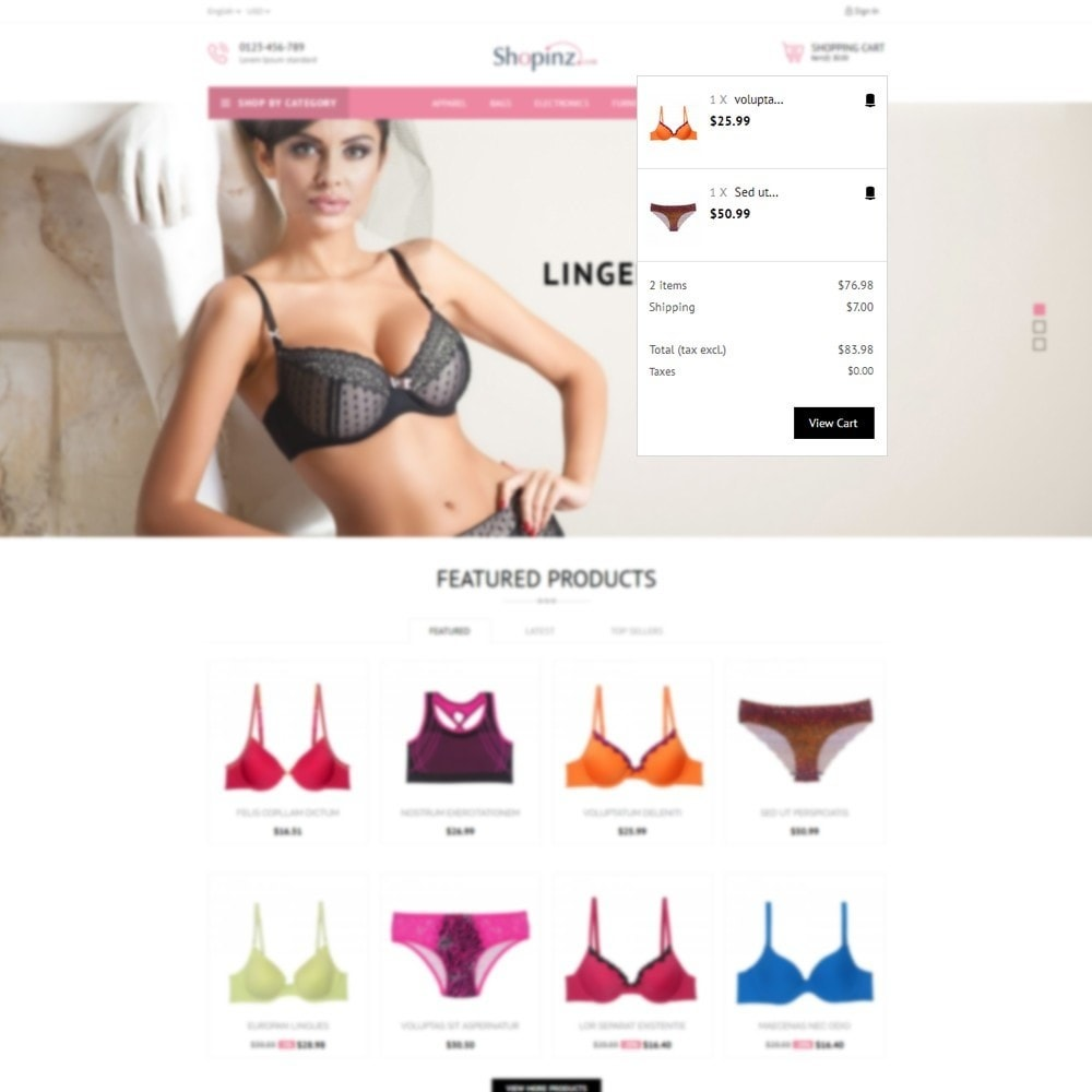 theme - Мода и обувь - Lingerie Store - 8