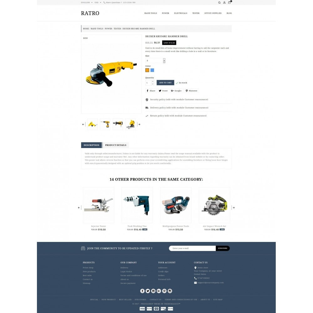 theme - Automotive & Cars - Ratro - Tools shop - 5