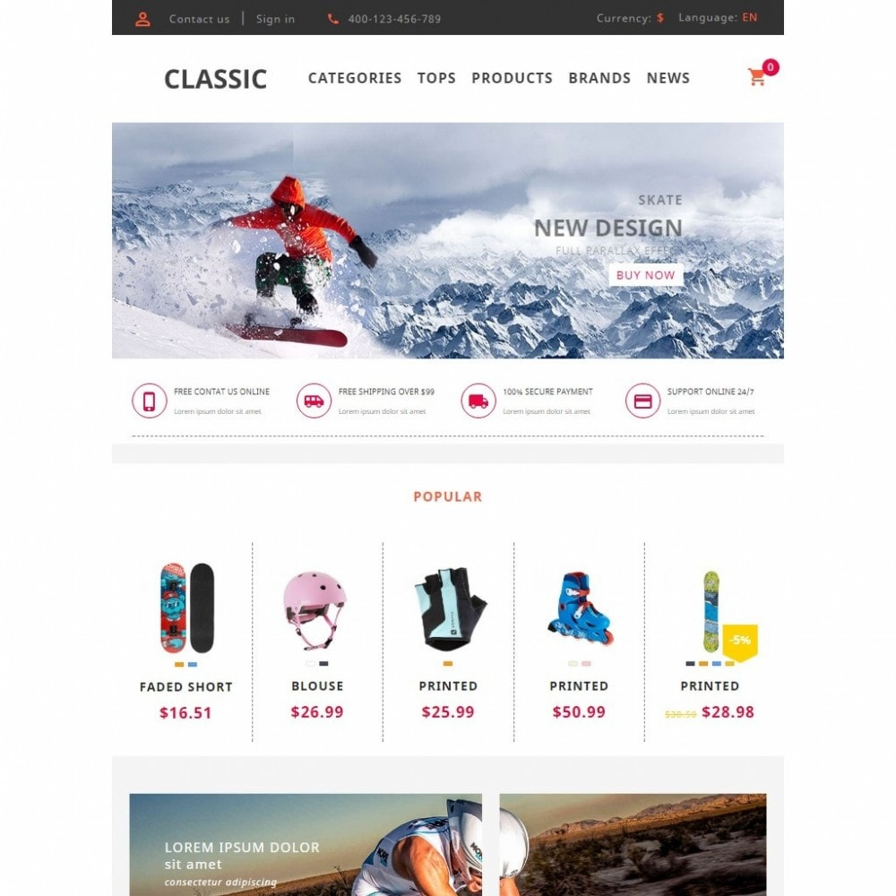 theme - Sports, Activities & Travel - UP Skate Store - 8