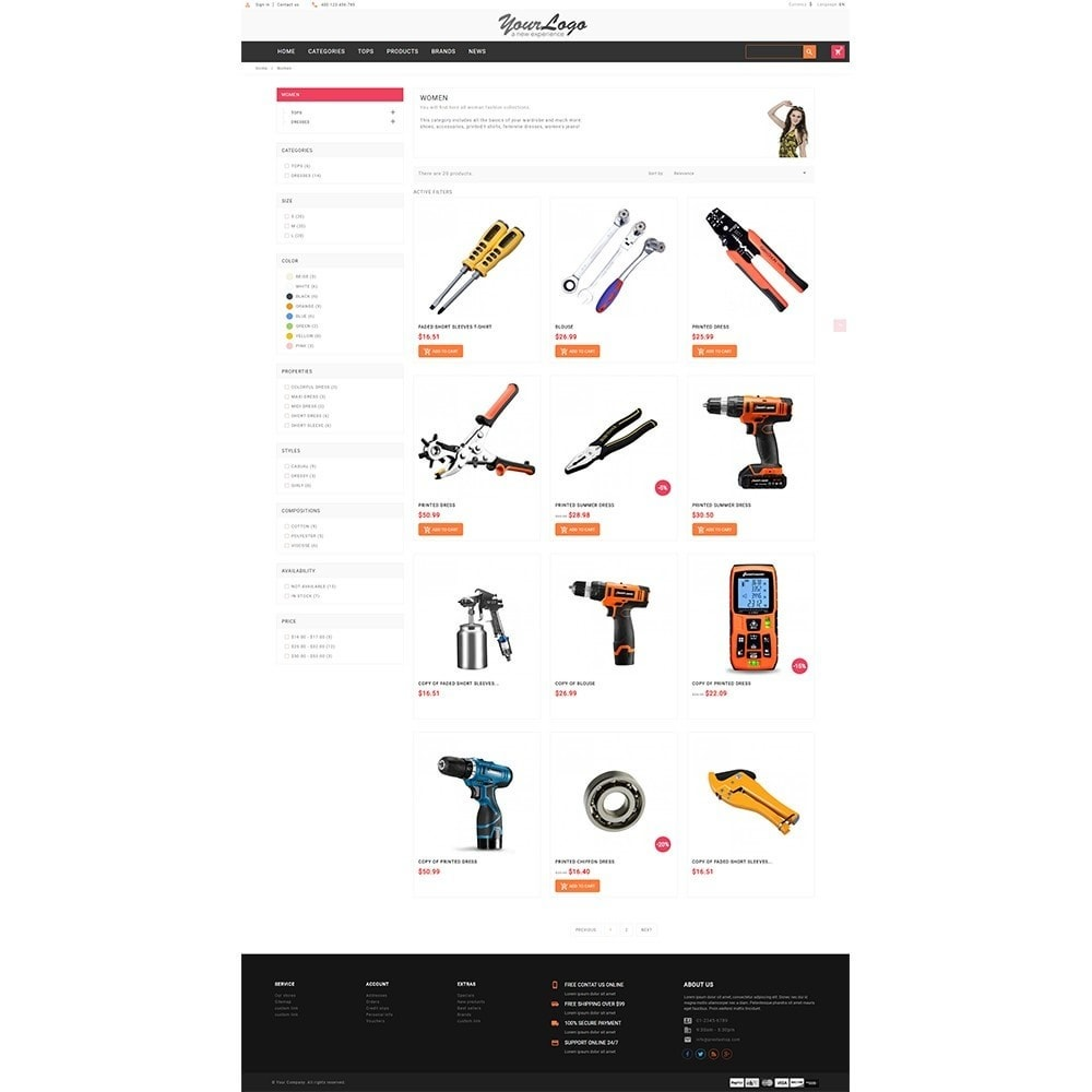 theme - Automotive & Cars - UP Tools Store - 5