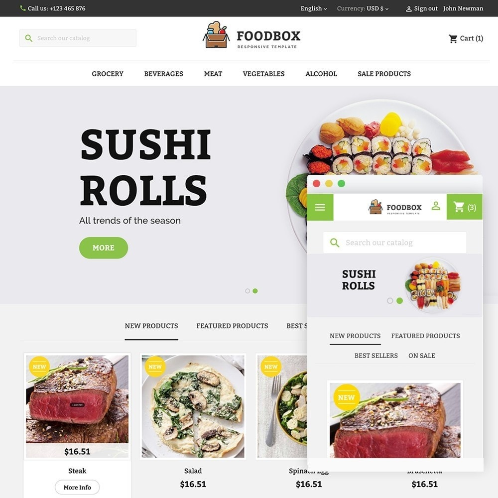 theme - Food & Restaurant - FOODBOX - 1